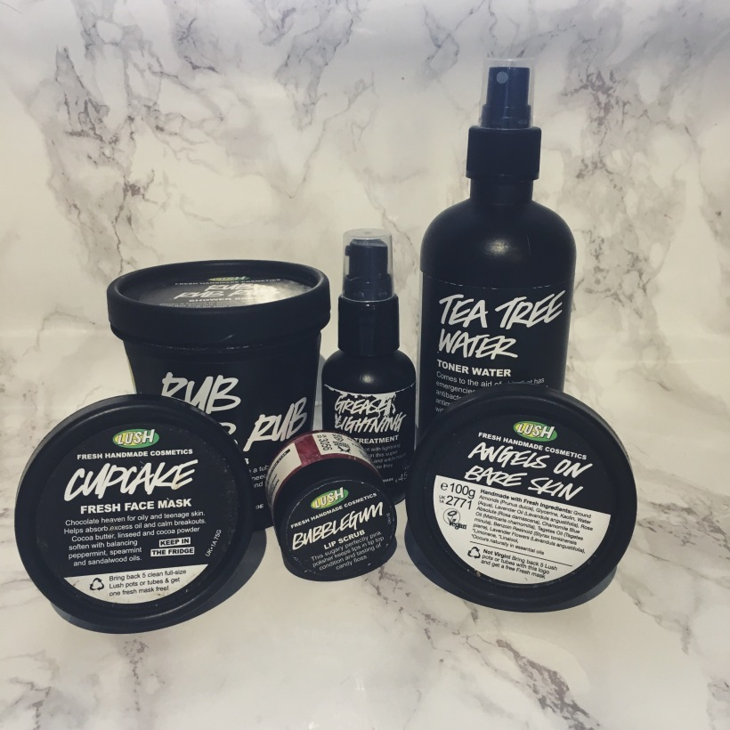 Lush skincare products